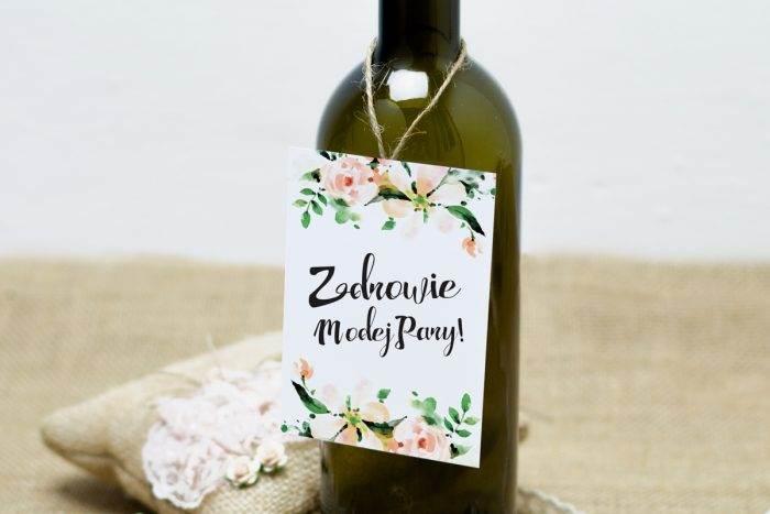 Biała magnolia zawieszka na alkohol w stylu boho