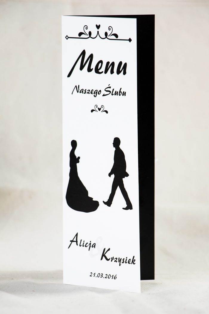menu-weselne-blackwhite-wzor-2-papier-satynowany