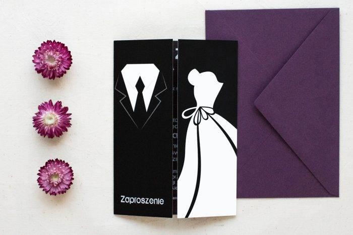 zaproszenie-slubne-blackwhite-wzor-5-papier-satynowany