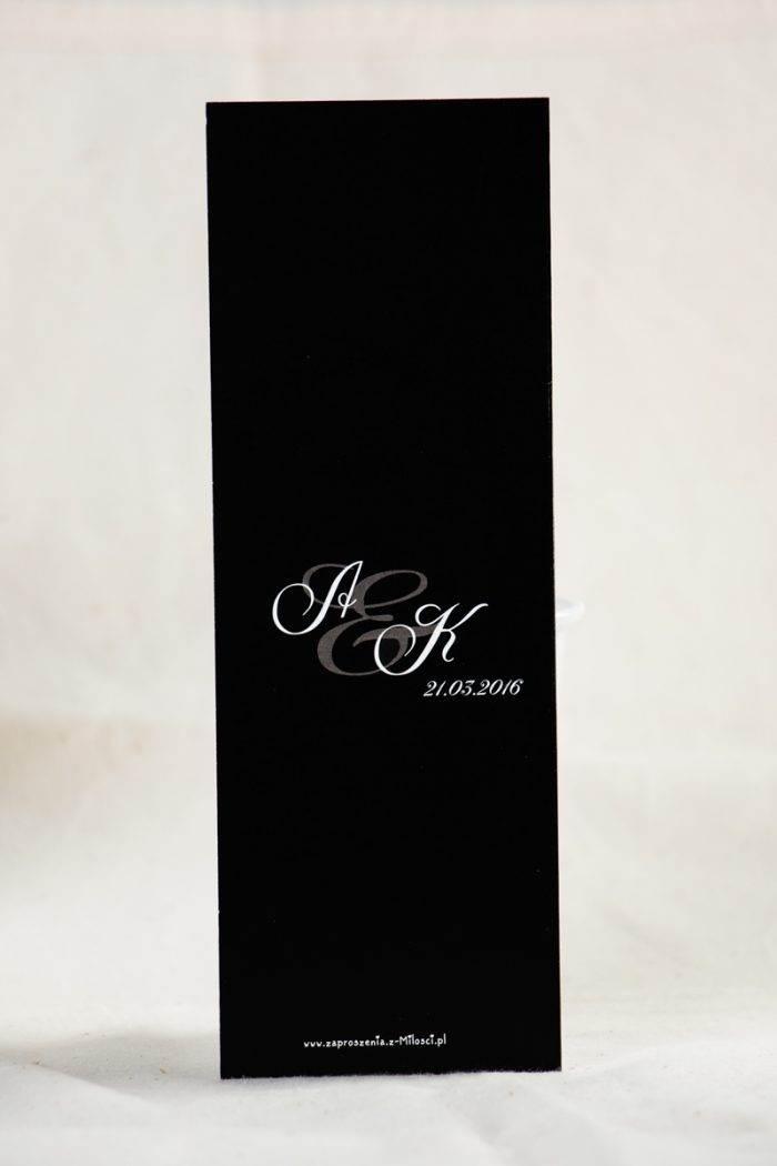 menu na wesele black white