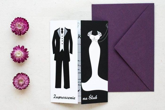 zaproszenie-slubne-blackwhite-wzor-4-papier-satynowany