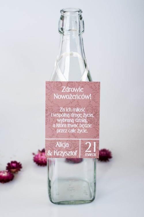 zawieszka na alkohol ślubny