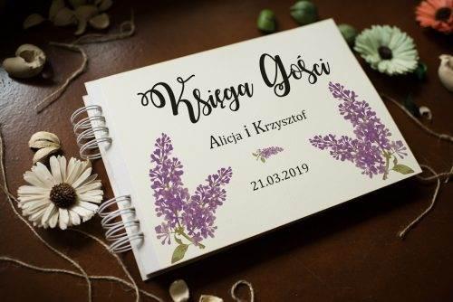 księga wpisu gości ślubnych bzy