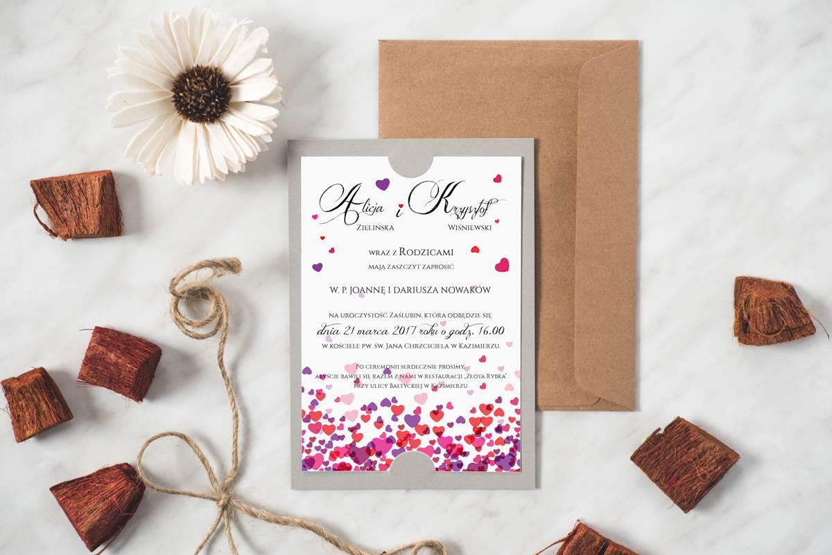 Z Miłości Zaproszenie ślubne Boho Wzór 10