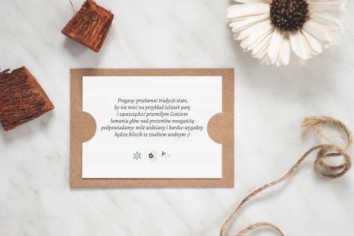 dodatkowa karteczka do zaproszenia boho wzór 1