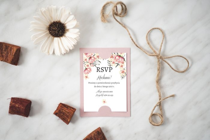 Dodatkowa karteczka do zaproszeń Boho