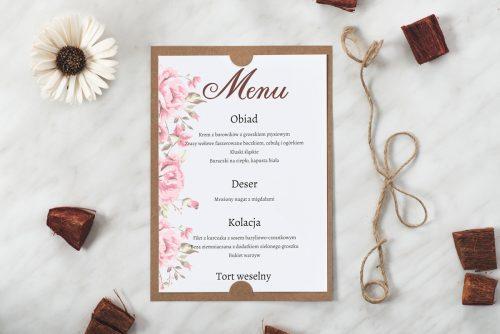 ślubne menu boho wzór 4