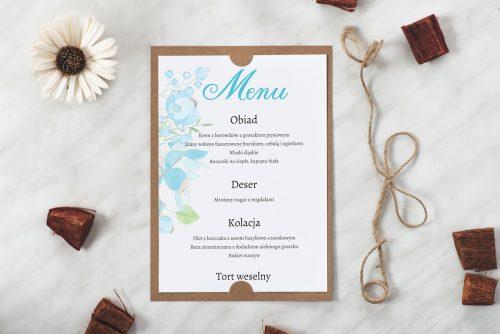 ślubne menu boho wzór 7