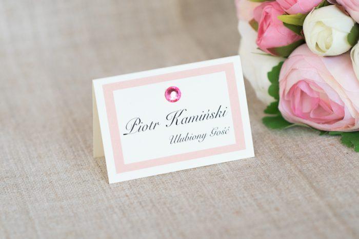 winietka-slubna-do-zaproszenia-eleganckie-z-brylancikiem-rozowe-brylanciki-srebrny-papier-satynowany