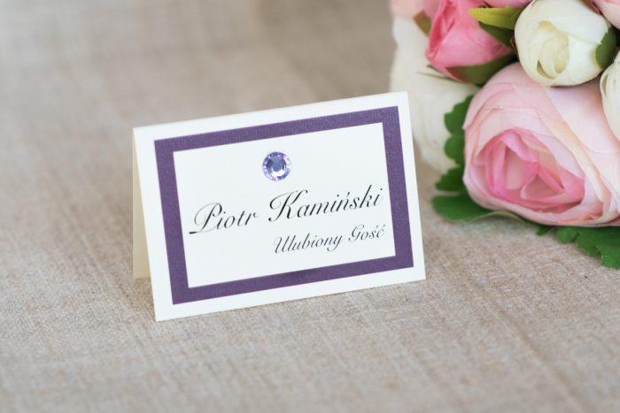 winietka-slubna-do-zaproszenia-eleganckie-z-brylancikiem-fioletowe-brylanciki-srebrny-papier-satynowany