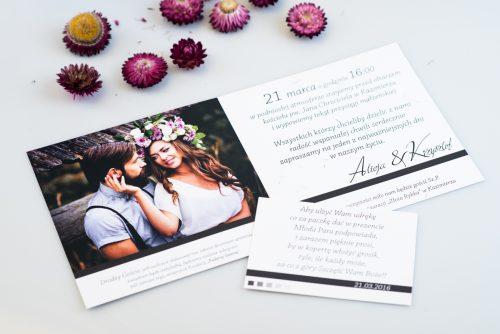 dodatkowa karteczka do zaproszenia foto z dmuchawcami