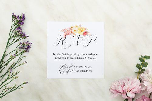 Dodatkowa karteczka Wianuszki - Akwarelowe róże wzór b
