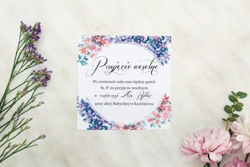 Dodatkowa karteczka Wianuszki - Delikatne kwiatuszki wzór A