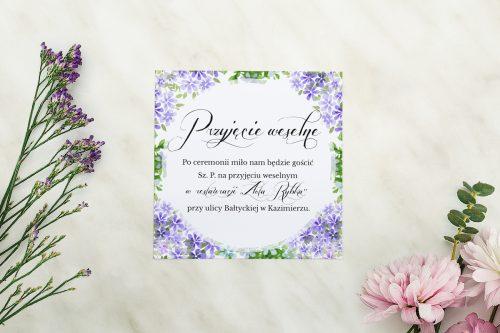 Dodatkowa karteczka Wianuszki - Kolorowe hortensje wzór A