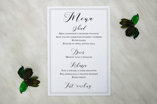 menu na wesele białe eleganckie