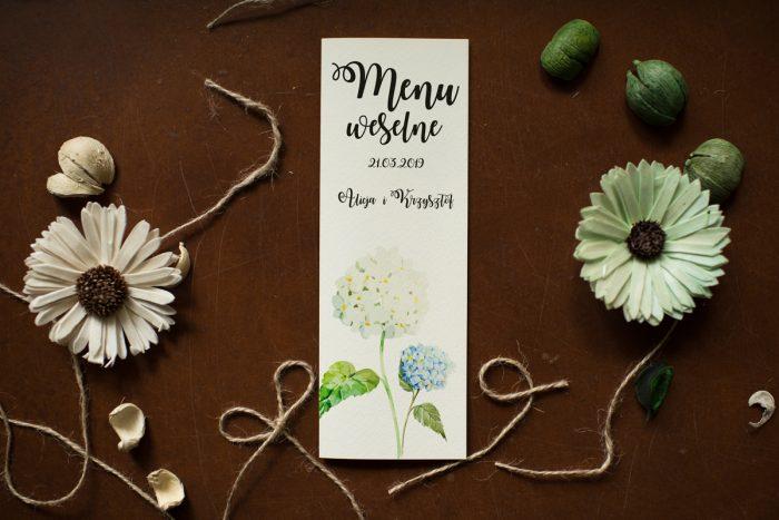 menu-weselne-pasujace-do-zaproszenia-kwiaty-hortensje-papier-satynowany