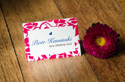 winietka na ślub różowa