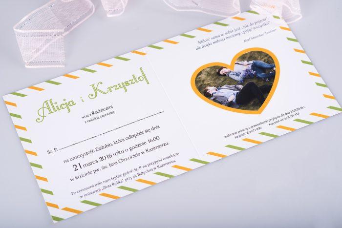 kartka pocztowa Zaproszenie ślubne