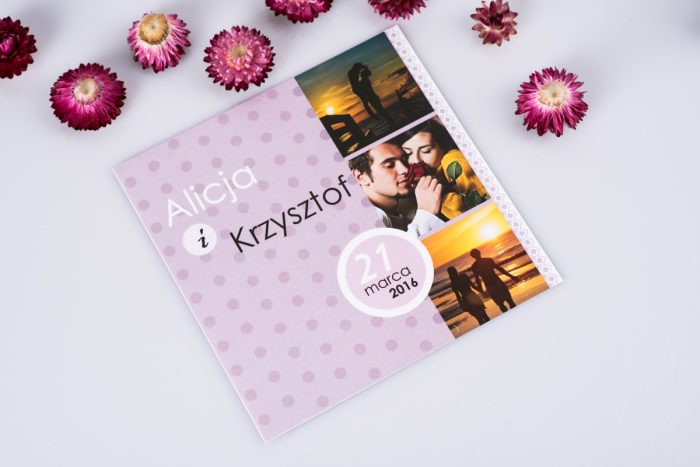 zaproszenie ślubne ze zdjęciem