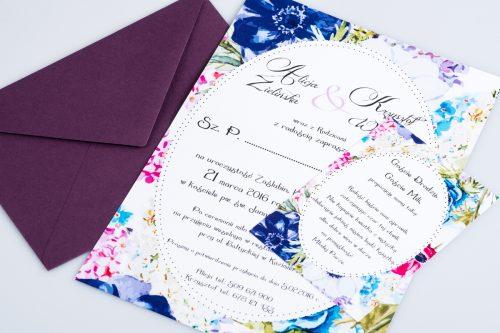 dodatkowa karteczka polne kwiaty
