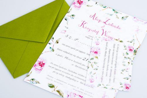 dodatkowa karteczka róże