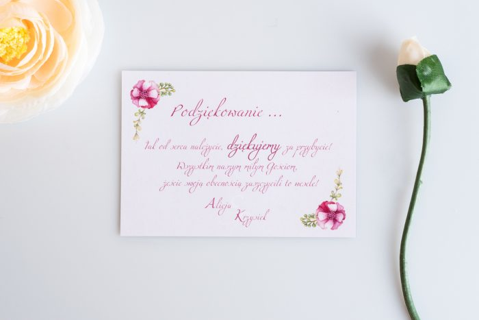 karteczka dodatkowa ślubna