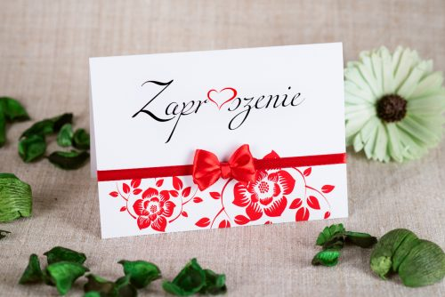 zaproszenie ślubne ornament na pasku