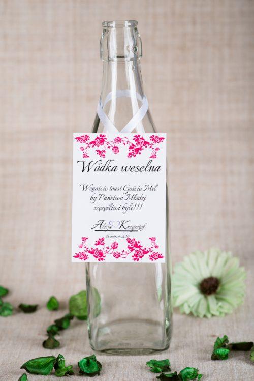 zawieszka na alkohol różowa