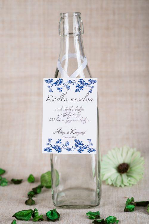 zawieszka na alkohol ornament wzor 3 niebieskie