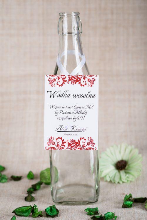 zawieszka na alkohol weselny