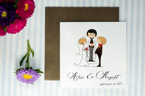 zaproszenie ślubne lolki i ksiadz 2