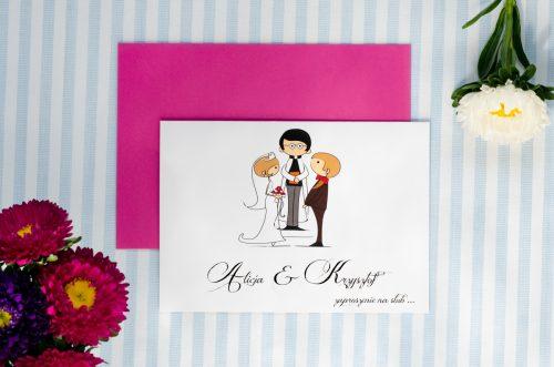 zaproszenie ślubne lolki i ksiadz