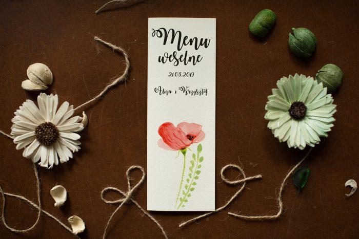 menu-weselne-pasujace-do-zaproszenia-kwiaty-maki-papier-satynowany