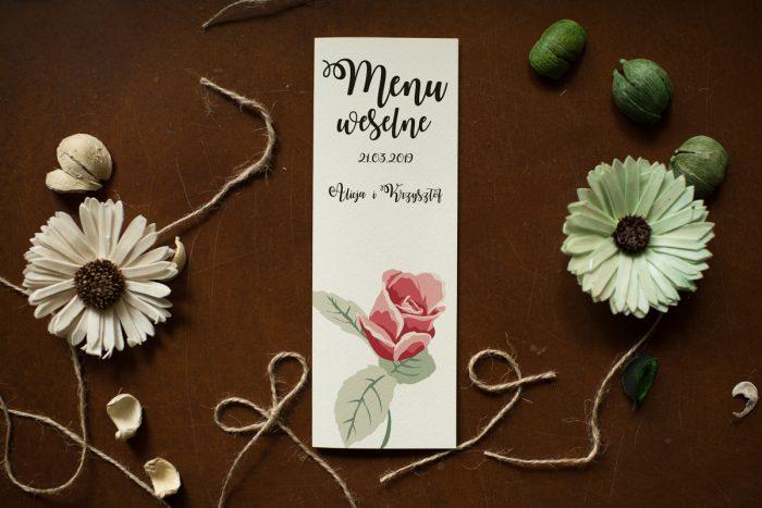 menu-weselne-pasujace-do-zaproszenia-kwiaty-rozyczki-papier-satynowany