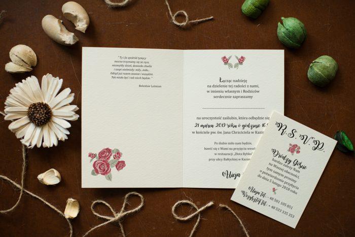 Różyczki- Zaproszenie ŚRODEK