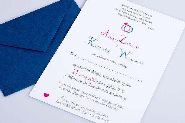 środek zaproszenia ślubnego red blue 3