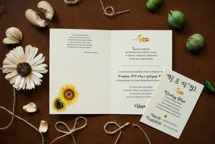 Słoneczniki- Zaproszenie ŚRODEK