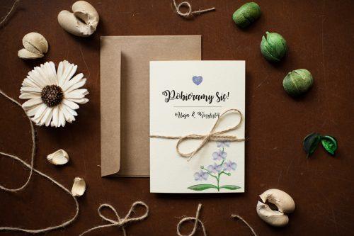 Storczyki zaproszenie ślubne