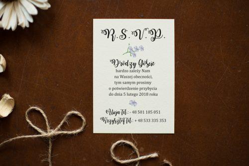 Storczyki dodatkowa karteczka do zaproszeń ślubnych wkładka
