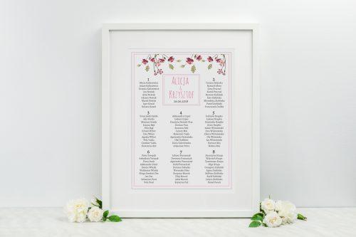 tablica stołów weselnych wianki 3