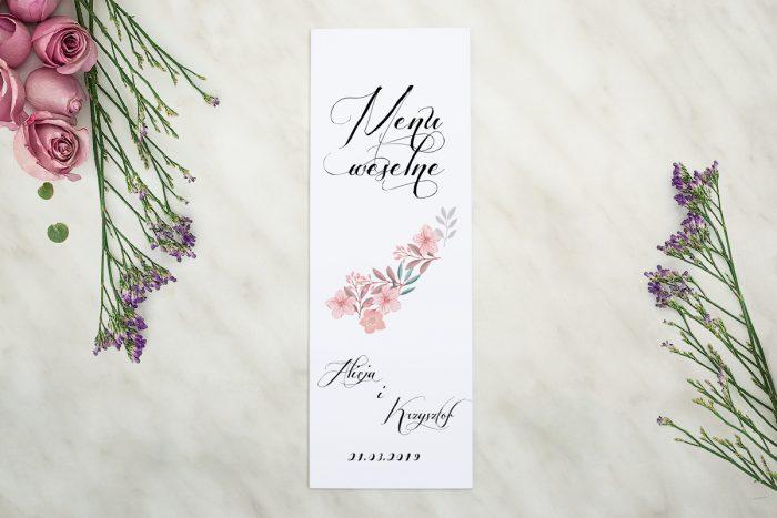 menu-weselne-pasujace-do-zaproszenia-wianuszki-pudrowe-kwiaty-papier-matowy