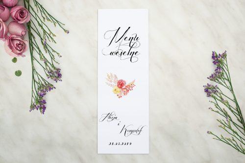 Akwarelowe róże menu