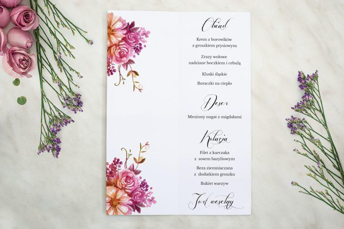 Rustykalny bukiet menu