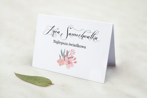Z-Miłości - Winietka ślubna do zaproszenia Wianuszki - Pudrowe kwiaty