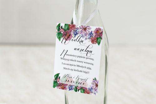 Zawieszka na alkohol do zaproszeń Bukiet Vintage