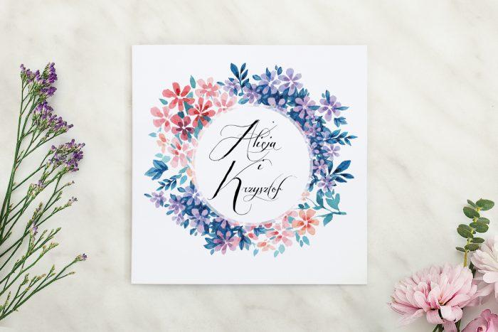 wianuszki zaproszenie ślubne