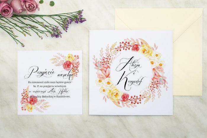 zaproszenie ślubne wianuszki