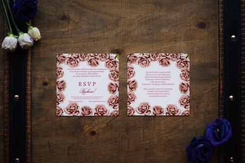 dodatkowa karteczka wkładka różyczki