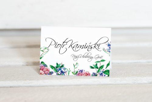 winietka ślubna w kwiaty