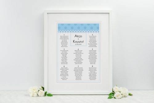 tablica plan stolików